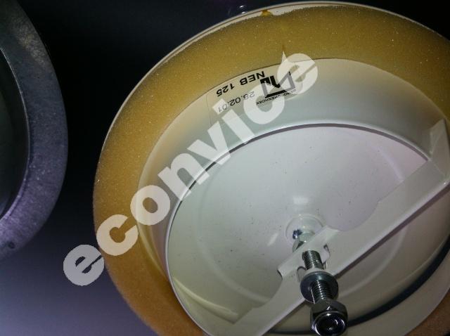 Metalen toevoerventiel, D=125mm, incl. montagering