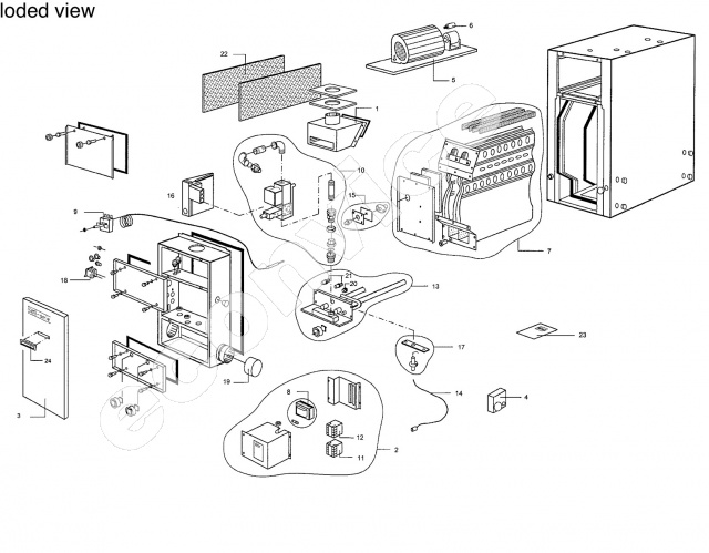 Systeemventilator B-8(M)(D)(G)(E) en B-8IN 7-aderi