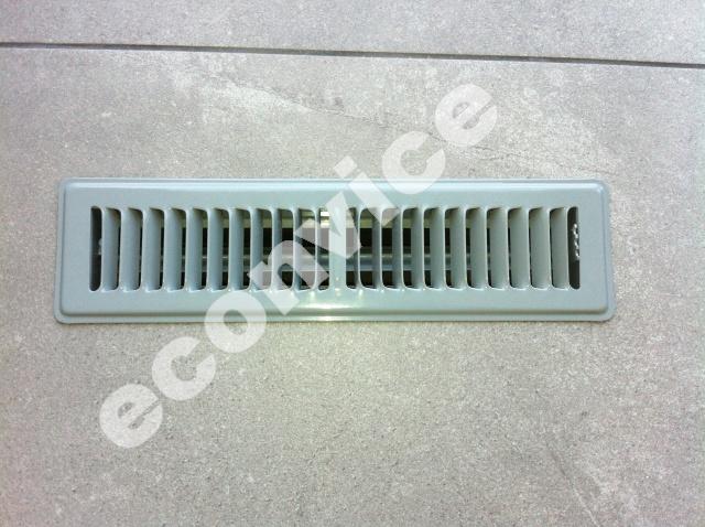 Vloerrooster, grijs (RAL 7001) 335x85mm (305x57)