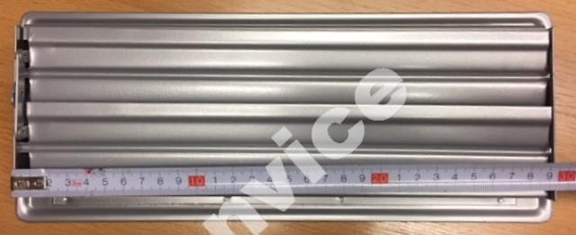 Vloerrooster, zilver (RAL 9006) 335x130mm (305x102