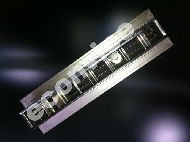 Vloerrooster, aluminium 334x89mm + regelklep