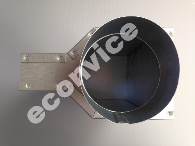 Evenwijdige roosterschoen 305x57mm x d125mm
